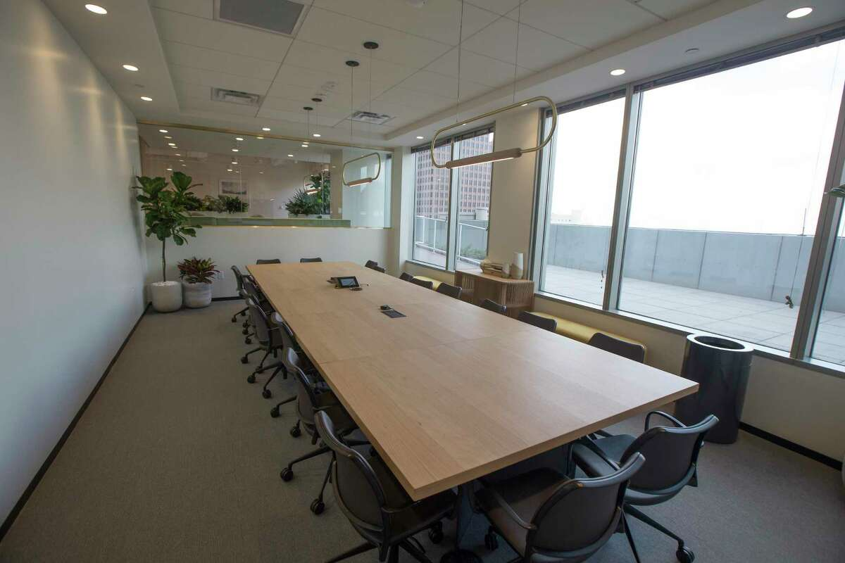 One of The Square conference room Thursday, March 12, 2020, in Houston.