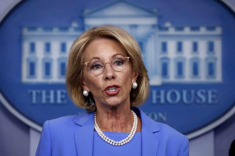Education Secretary Betsy DeVos Photo: Alex Brandon / Associated Press