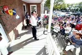 Ansonia Mayor DavidCassetti reads a proclamation at the 100th Anniversary Celebration of the Julia Day Nursery in Ansonia on October 22, 2017. The nursery is receiving a $2,000 grant from the Valley Community COVID-19 Response and Recovery Fund to purchase personal protection equipment.