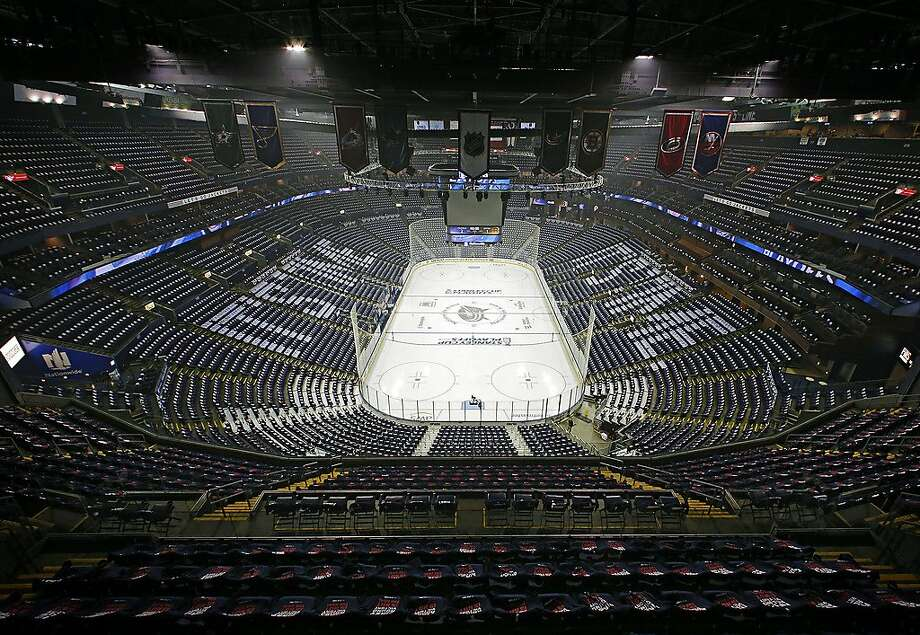 Nationwide Arena in Columbus, Ohio, is being considered as a hub if the season resumes. Photo: Adam Cairns / Columbus Dispatch