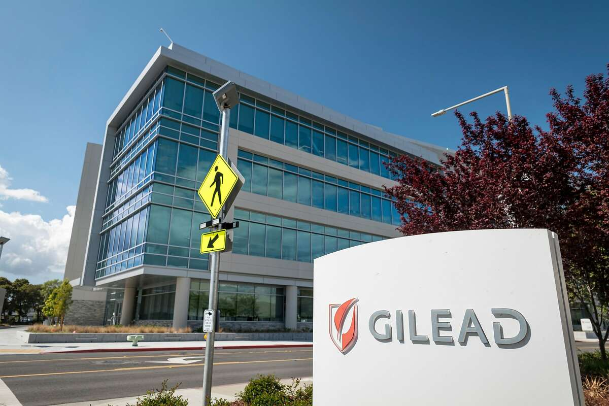 Gilead Sciences Inc. headquarters in Foster City, Calif., on March 19, 2020. Bloomberg photo by David Paul Morris.