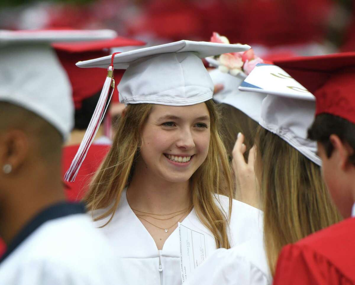 Photos from the 2019 Graduation at Greenwich's High School's Cardinal Stadium in Greenwich, Conn. Monday, June 17, 2019.
