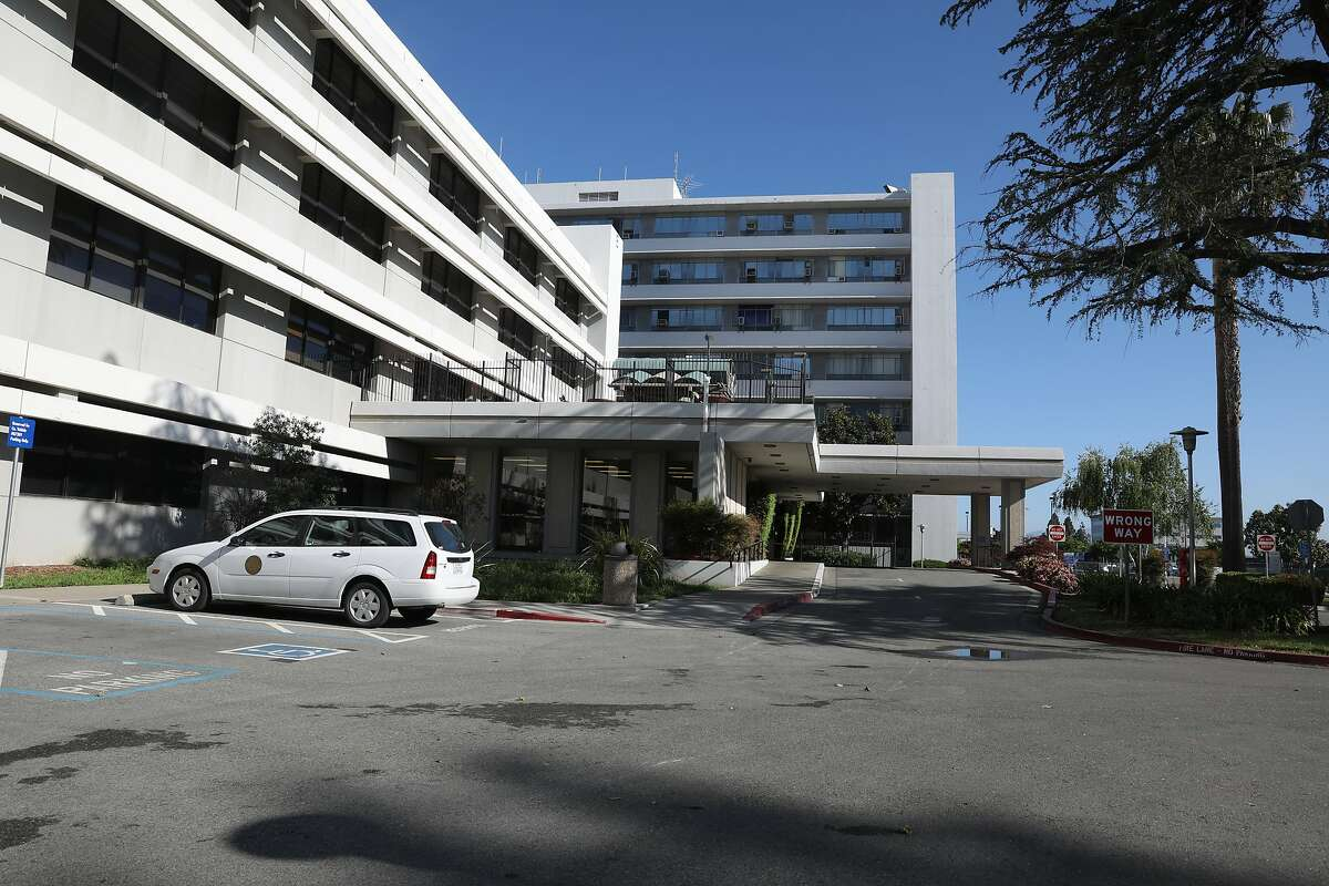 View of the Santa Clara Valley Medical Center seen on Tuesday, April 14, 2020, in San Jose, Calif. According to the Los AngelesTimes, six staff members with ties to the same medical-surgical unit at Santa Clara Valley Medical Center developed symptoms of the coronavirus, including four who tested positive and one, a woman in the nurse staffing office, who died March 19.