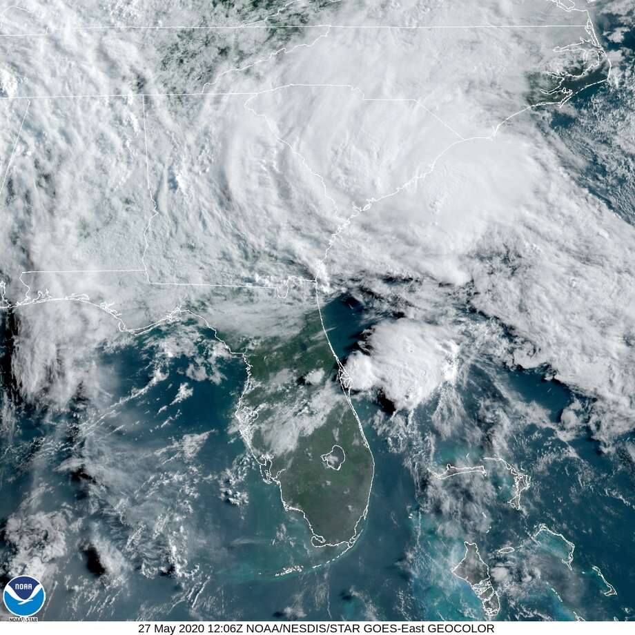 Tropical Storm Bertha formed Wednesday morning off the coast of South Carolina, becoming the second named storm before the official start of this year's Atlantic hurricane season. Photo: National Weather Service