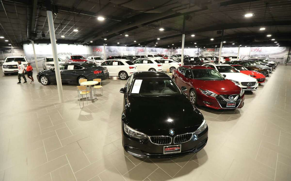 The Central Automotive Group Nissan Dealership Used Cars showroom, 2901 S Loop W Tuesday, June 11, 2019, in Houston.
