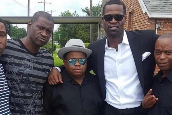Longtime NBA player Stephen Jackson (second from right) mourned the death of his close friend George Floyd (second from left), who died in Minneapolis police custody on Monday. (Courtesty of Instagram.com/_stak5_)