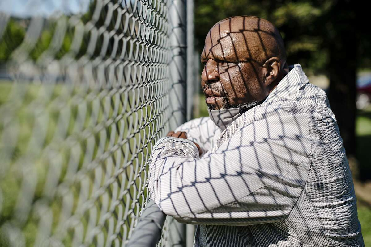 Paul Redd, 64, stands for a portrait after being released from the Department of Correction and Rehabilitation's California Medical Center after serving a total of 44 years in prison and more than 25 in solitary confinement, at Al Patch Park in Vacaville, Calif, on Thursday, May 21, 2020.