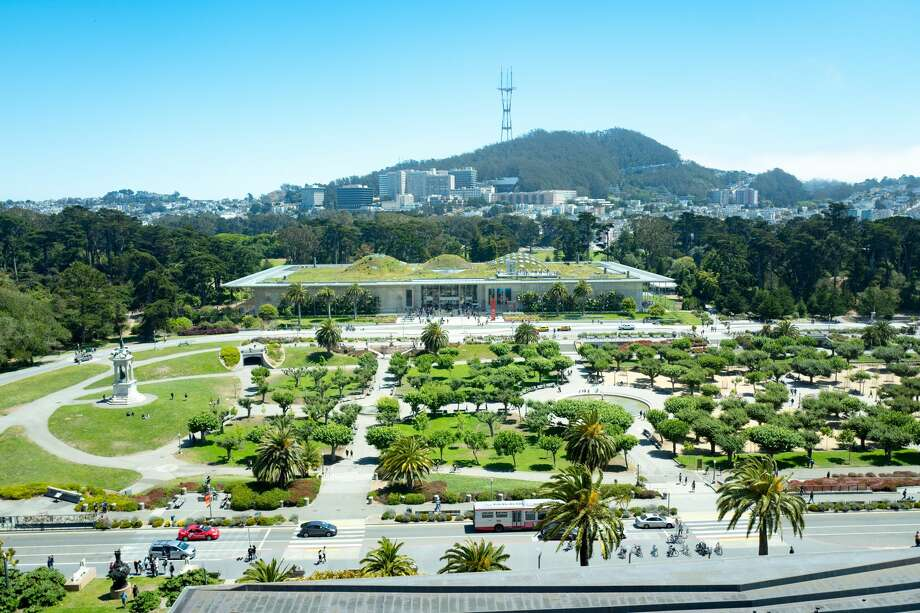 Aerial view of Golden Gate Park and the California Academy of Sciences. Photo: Smith Collection / Gado / Getty Images