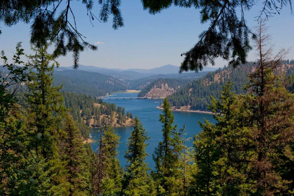 Beauty Bay in Lake Coeur d'Alene, Kootenai County, Idaho.