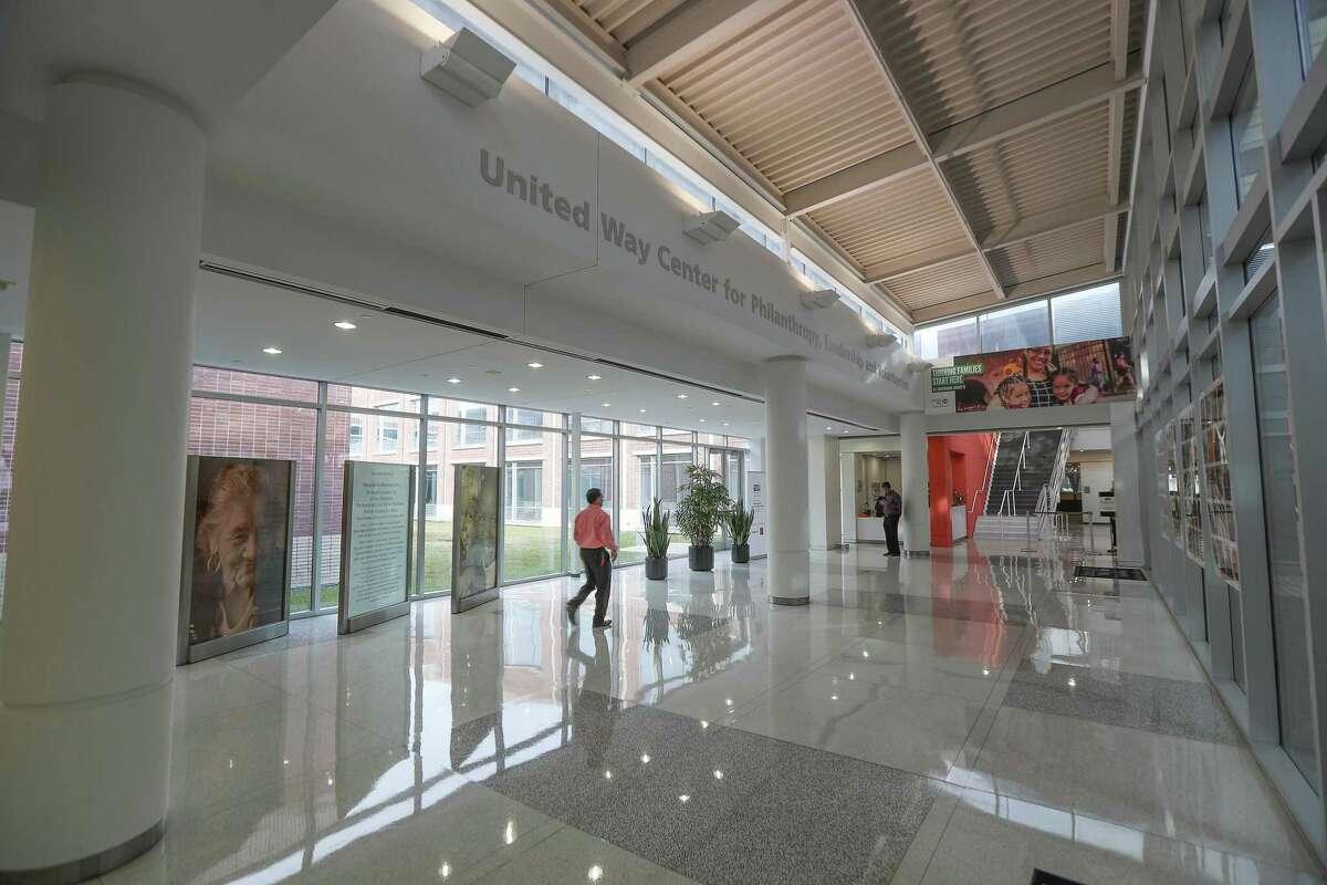 The lobby of the United Way Houston Thursday, Nov. 21, 2019, in Houston.