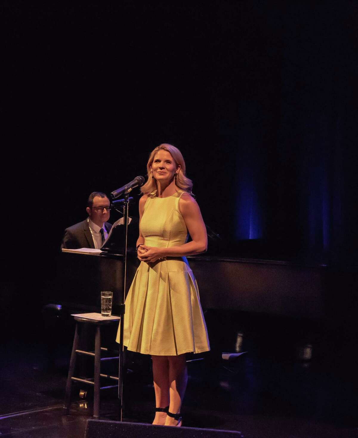 """Broadway star Kelli O'Hara, of Westport, will be among the entertainers in """"Staged at Home,"""" a virtual benefit concert for Long Wharf Theatre in New Haven, June 8. She's seen onstage here as Long Wharf Theatre's 2016 gala performer."""
