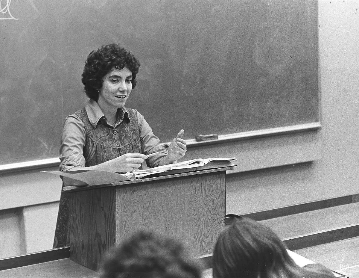In a photo provided by Stanford Law School, Barbara Babcock in 1972, the year she started teaching at Stanford Law. Babcock, a trailblazer for women in the legal profession and the first female tenured faculty member at Stanford Law School, died on April 18 at her home in Stanford, Calif. She was 81. (Stanford Law School via The New York Times) -- NO SALES; FOR EDITORIAL USE ONLY WITH NYT STORY OBIT BABCOCK BY KATHARINE Q. SEELYE FOR MAY 11, 2020. ALL OTHER USE PROHIBITED. --