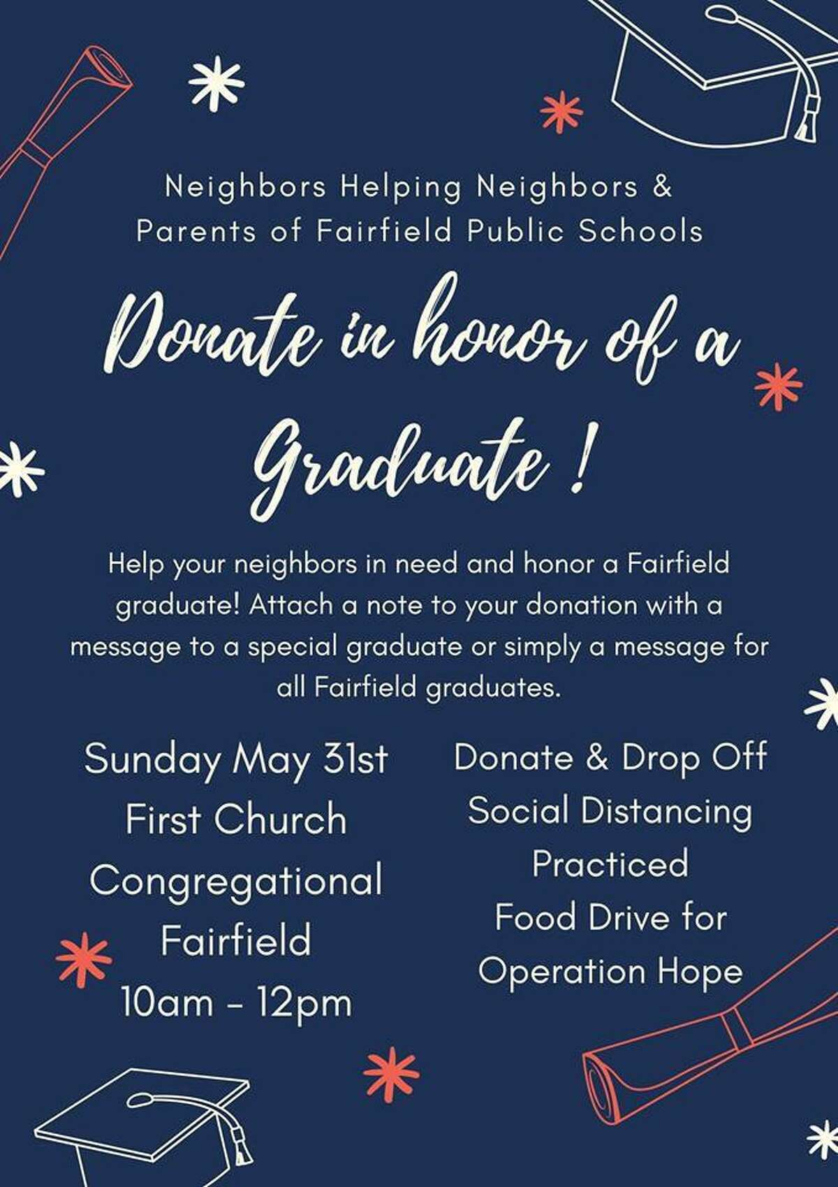 Fairfield residents are hosting the 11th food drive in as many weeks on Sunday, May 31.
