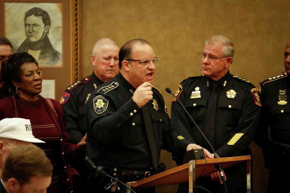 Harris County Constable Alan Rosen, shown here in March, has tested positive for the new coronavirus, his office confirmed Wednesday.