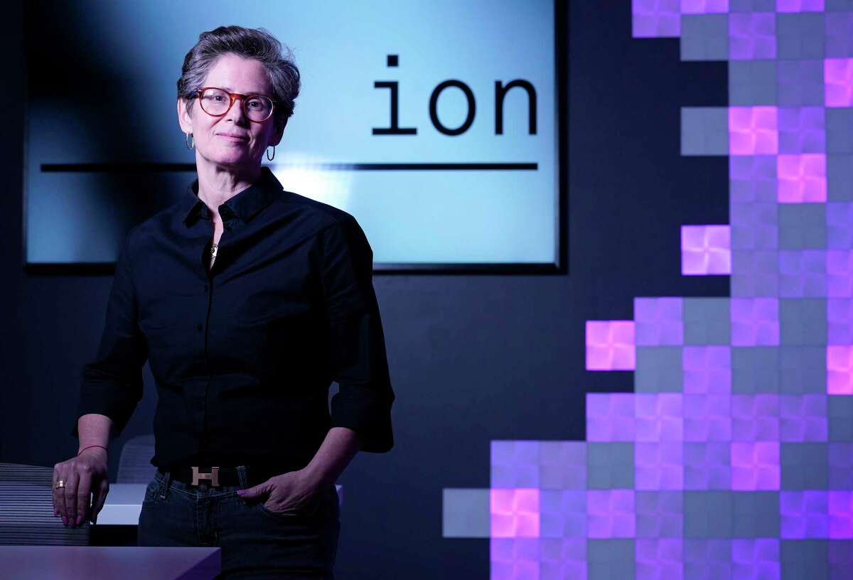 """Gabriella """"Gaby"""" Rowe, CEO of the Ion tech hub, is shown Monday, March 9, 2020, in Houston."""