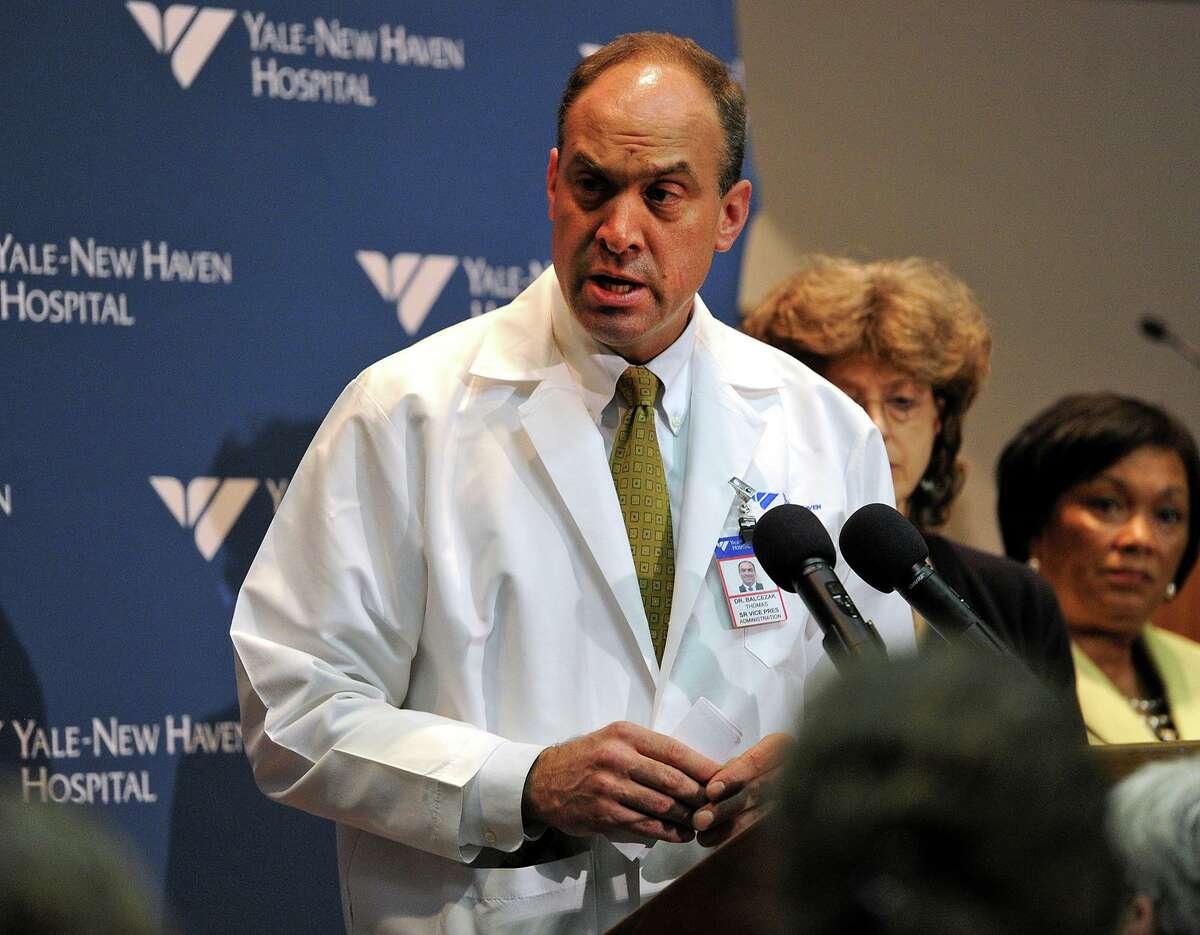 In this file photo, Dr. Thomas Balcezak, chief medical officer at Yale New Haven Hospital, in 2014.