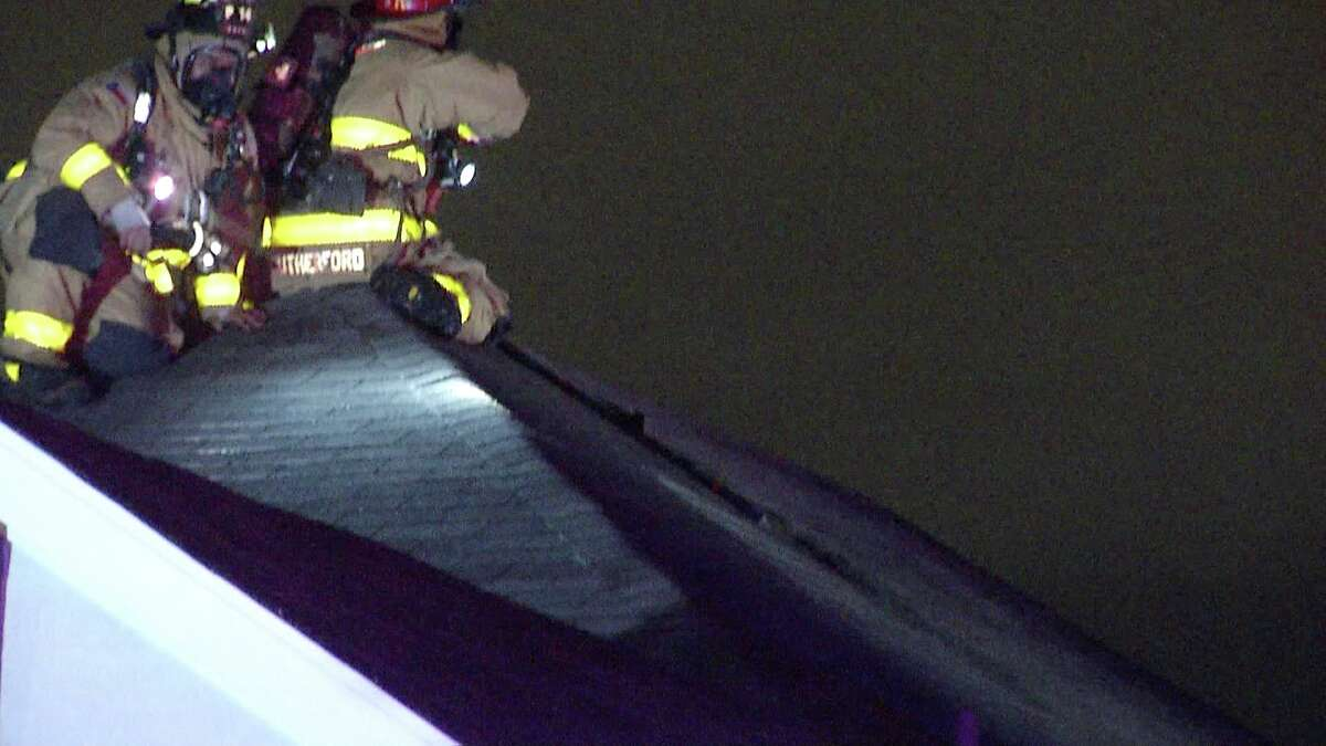 Authorities believe that a lightning strike is what sparked a house fire on the North Side late Wednesday night.