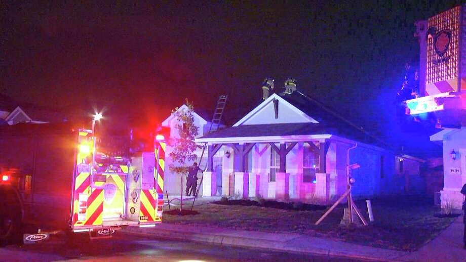 Authorities believe that a lightning strike is what sparked a house fire on the North Side late Wednesday night. Photo: Ken Branca