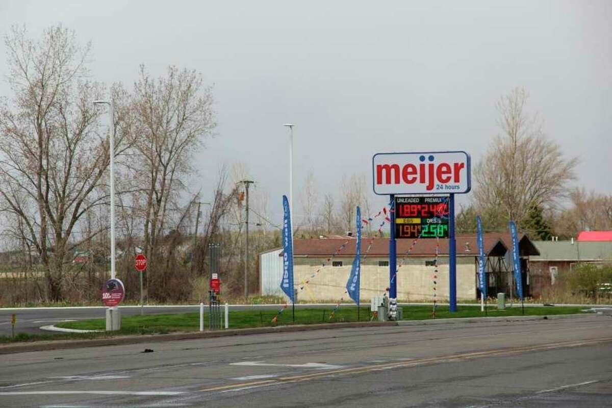 The new Bad Axe Meijer gas station opened earlier this month, but there has still not been a date set for opening the main store, according to store management. (Robert Creenan/Huron Daily Tribune)