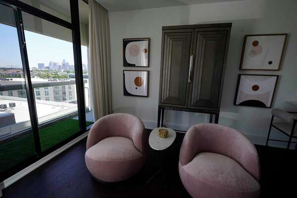 A view from a unit on the 10th floor at The Parklane, 1701 Hermann Drive, is shown Tuesday, May 26, 2020, in Houston. Houston-based Tema Development launched a modernization of The Parklane, a 35-story residential tower overlooking Hermann Park. The building will offer 195 units with prices starting in the $300,000s. Mirador Group is handling the architecture and interior design to transform the building, which was constructed by Tema in 1983.
