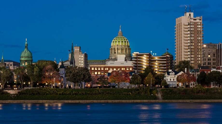FILE: The city skyline and State Capitol shot at dusk from Susquehanna River in Harrisburg, Pennsylvania. Photo: Joe Sohm/Visions Of America/Universal Images Group Via Getty