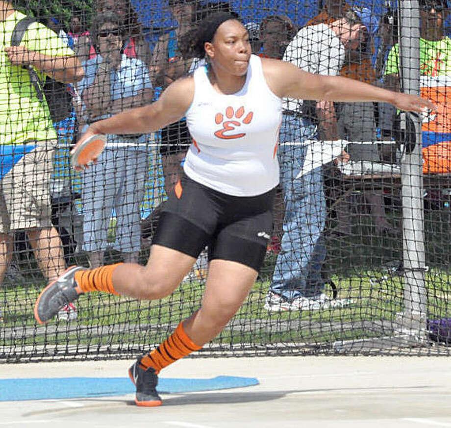 Dominant only begins to describe Emmonnie Henderson in track and field. A seven-time state champion in the throws, including four in the shot put, Henderson owns the Class 3A state records in both events.