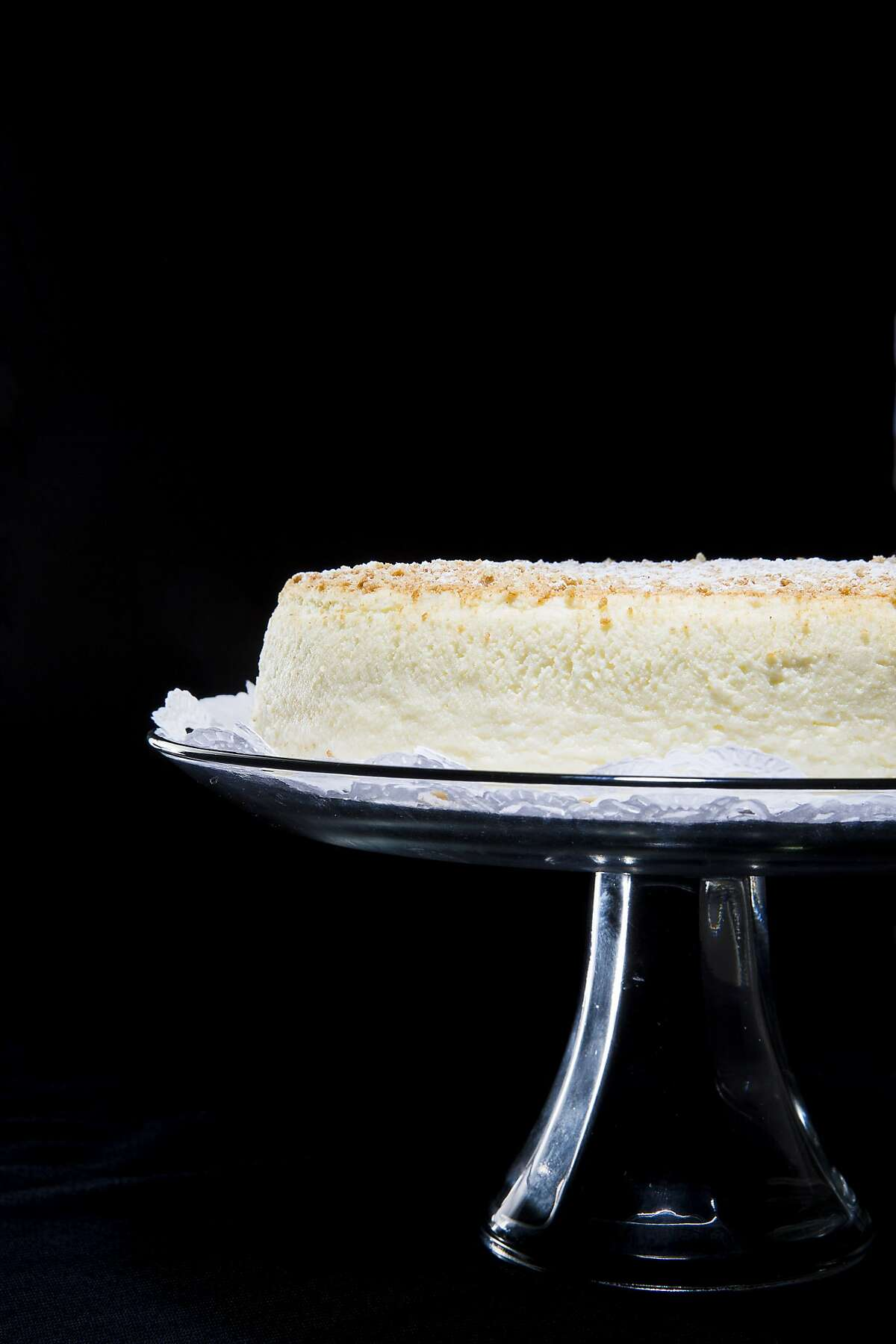 Traditional cheesecake from Zanze's Cheesecake in San Francisco, Calif., is seen on Wednesday, Oct. 15, 2014.