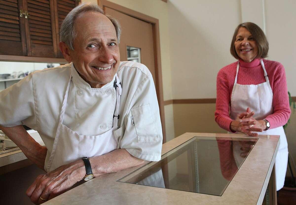 Cheesecake maker Sam Zanze (left) and his wife Joyce Zanze at Zanze's cheesecake in San Francisco, California, on Thursday, May 31, 2012.