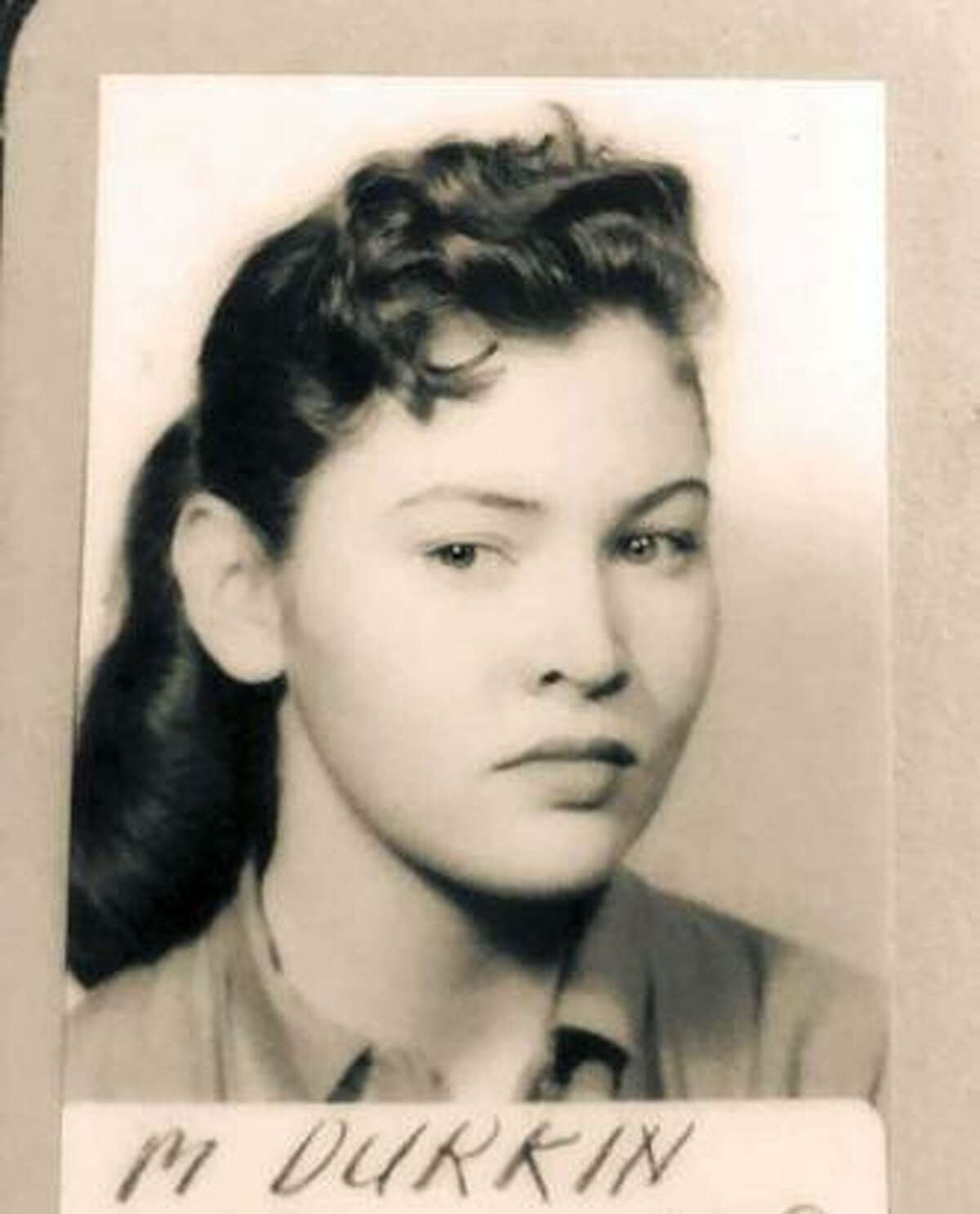 Mary Durkin as a younger woman.