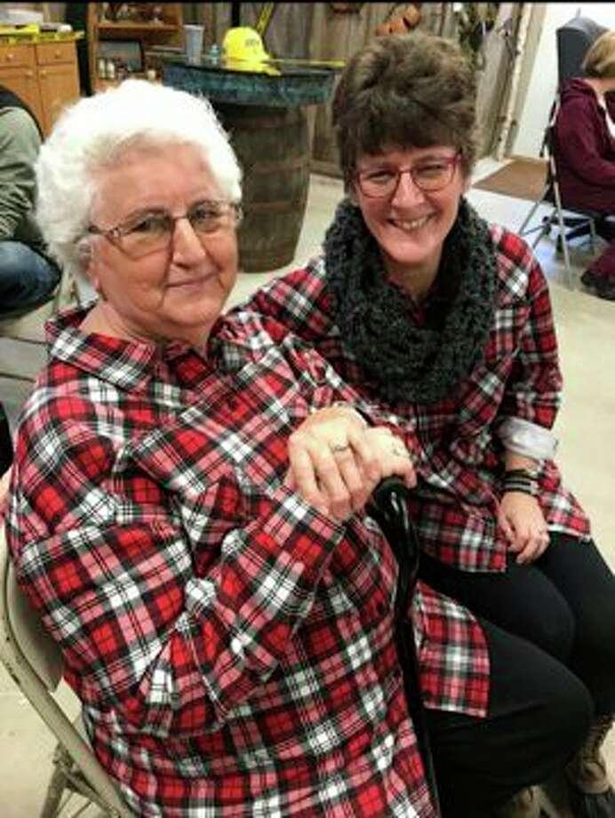 "Joni Reimann ""twinning"" with her mother Doris Pfaff. (Courtesy Photo)"