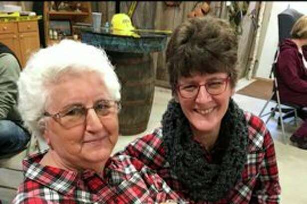"Joni Reimann ""twinning"" with her mother Doris Pfaff. (Courtesy Photo)"
