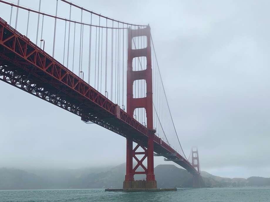 Karl the Fog at the Golden Gate Bridge. | Photo: Steven Bracco/Hoodline