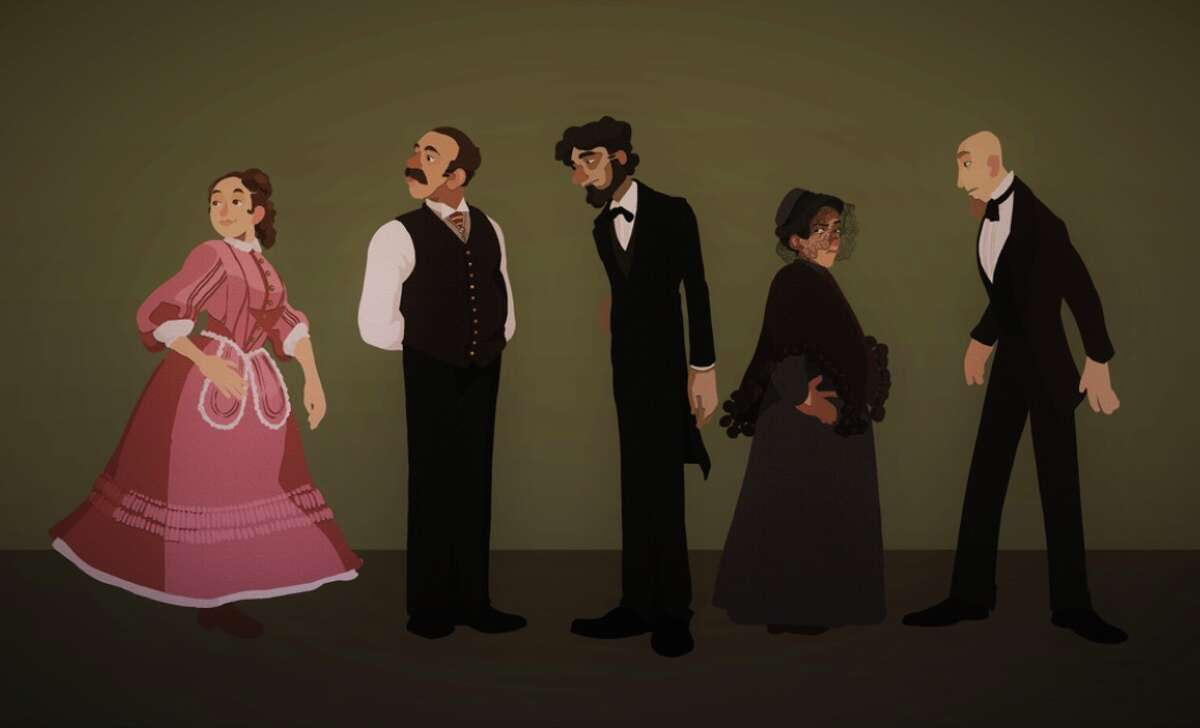 """""""A Doll's House"""" character lineup by Aedean Kern (New Visions / Questar III BOCES)"""