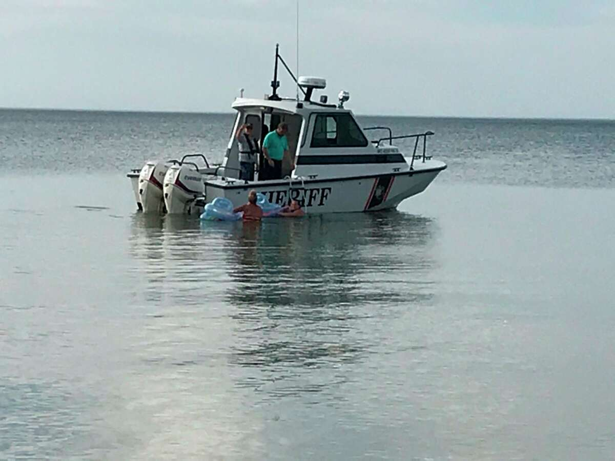 Two women were rescued by the Huron County Sheriff's Office after they were stranded approximately1/2mile offshore. (Huron County Sheriff's Office/Courtesy Photo)