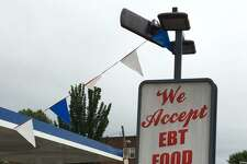 A Mobil Food Mart in Hartford that accepts SNAP benefits.