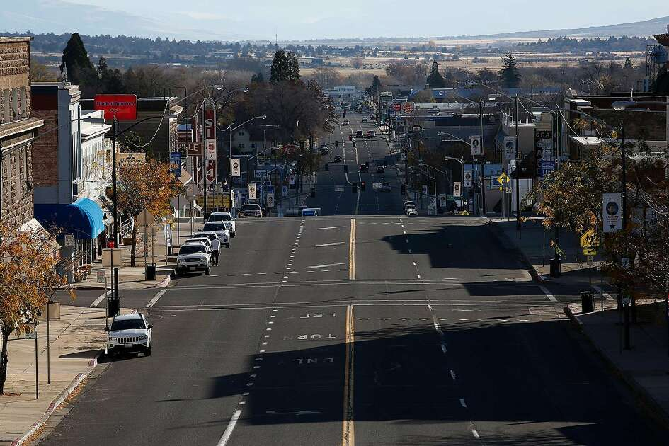 Main Street, Susanville, Calif., the county seat of Lassen County on November 16, 2016. (Gary Coronado/Los Angeles Times/TNS)