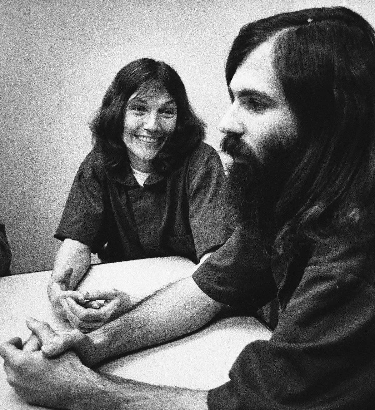 Michael Carson, 32, and his wife, Suzan, shown on April 29, 1983, confessed to killing two people in addition to a murder they were already charged with. Their confessions came during a five-hour interview with police and news reporters.