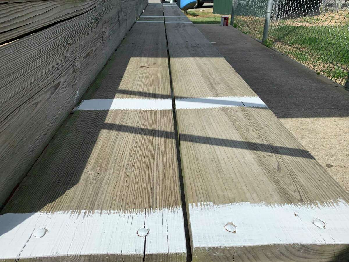 Tomball Little League recently finished painting its bleachers as the organization gets ready to reopen amid COVID-19.