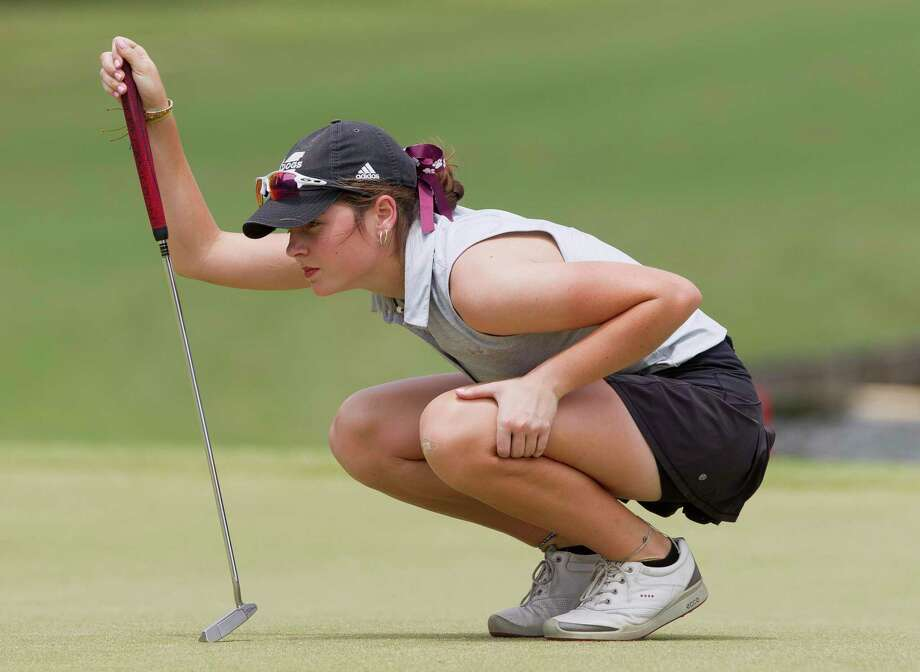Halle Whitney was one of several local golfers to earn all-state and all-area recognition. Photo: Jason Fochtman, Houston Chronicle / Staff Photographer / © 2019 Houston Chronicle