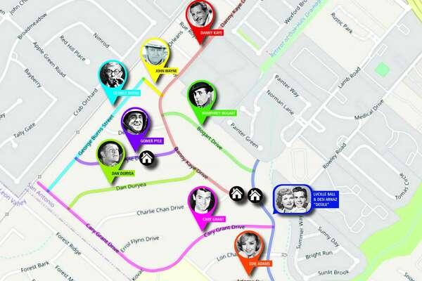 Oak Hills Terrace celebrity street name map