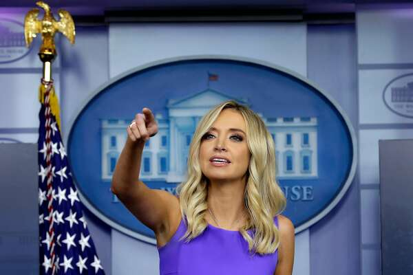 White House Press Secretary Kayleigh McEnany speaks during a press briefing at the White House in Washington on May 28, 2020. (Yuri Gripas/Abaca Press/TNS)