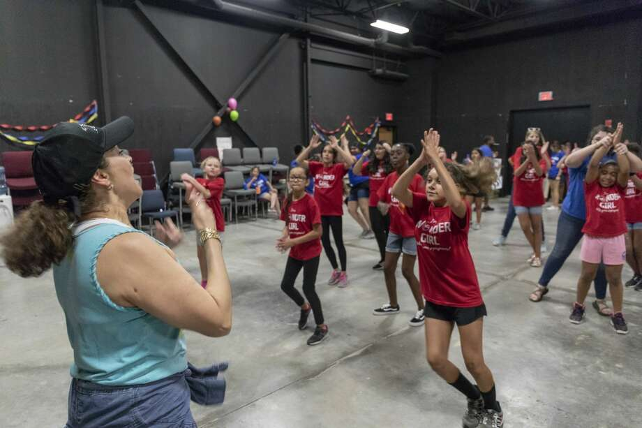 The Crisis Center of West Texas hosted Wonder Girls camp at Odessa College. Wonder Girls participated in Zumba, team building exercises, science experiments and empowerment lessons. Jacy Lewis/Reporter-Telegram Photo: Jacy Lewis/191 News