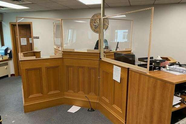 Madison County courtrooms have been outfitted with new virus protections, such as plexiglass shields, as the courts prepare to resume activity on June 1.