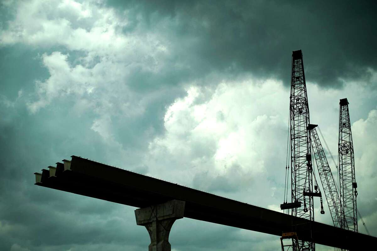 Construction continues on a new ramp along Interstate 69 near Loop 610 in Houston on May 28, 2020. The Texas Department of Transportation will close northbound Loop 60 at I-69 on June 19 at 9 p.m. until June 22 at 5 a.m.
