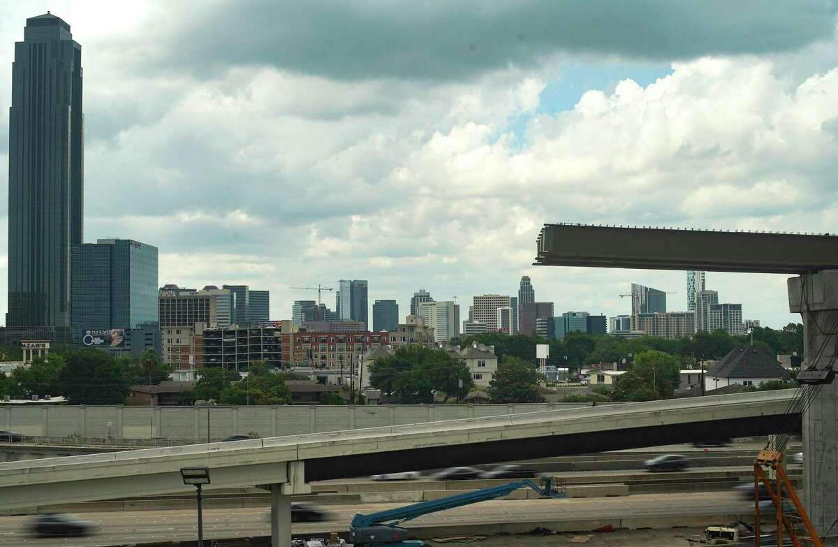 Construction continues on a new ramp along Interstate 69 near Loop 610 in Houston on May 28, 2020. The Texas Department of Transportation will close all northbound and southbound lanes of I-69 between Loop 610 and Weslayan beginning June 5 at 9 p.m. until June 8 at 5 a.m.