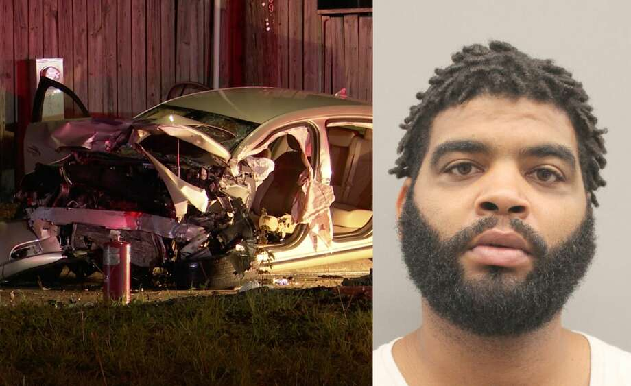 Alexis Saborit, 36, was charged with two counts of felony murder after allegedly killing two people in separate crashes at the end of a police chase. Photo: OnScene.TV / Harris County Sheriff's Office