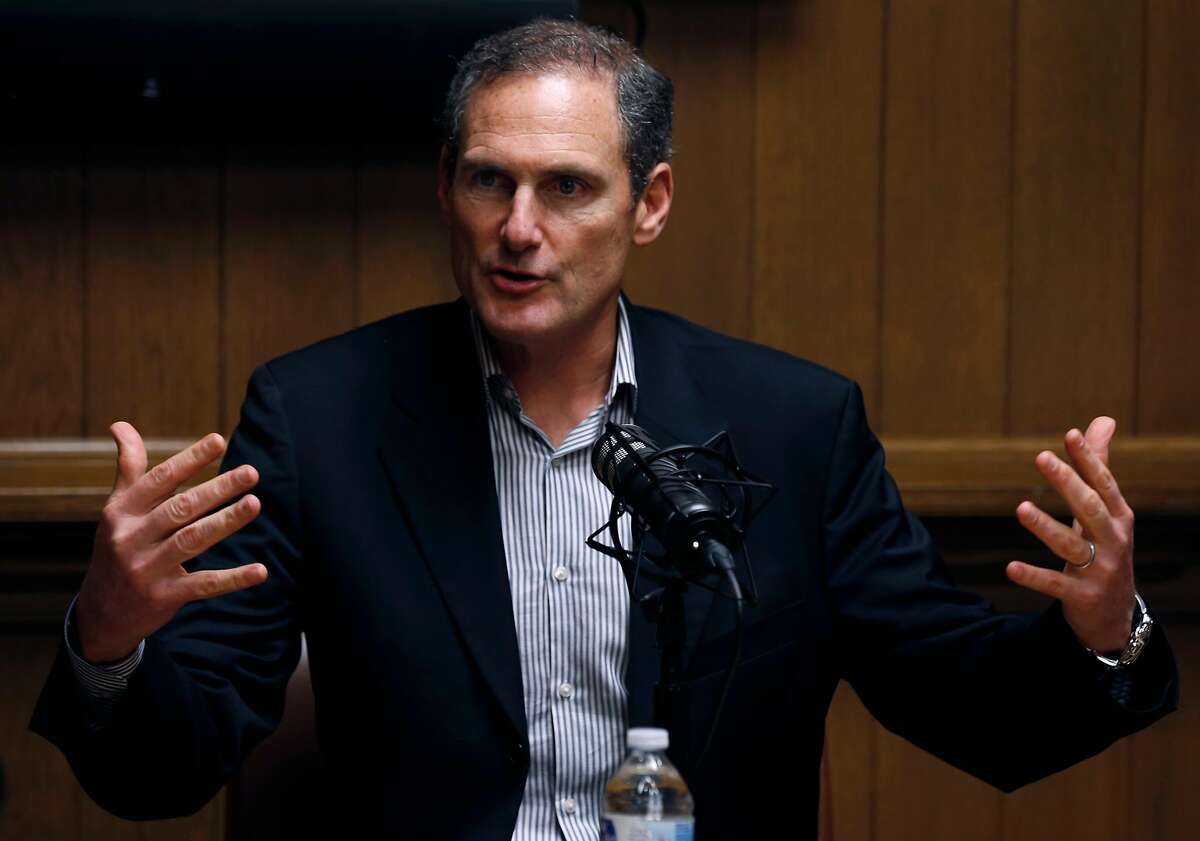 Pac-12 commissioner Larry Scott meets with the Chronicle Editorial Board in San Francisco, Calif. on Thursday, Nov. 16, 2017.