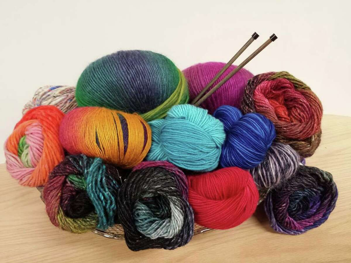 There are lots of opportunities for people to cozy up and knit.