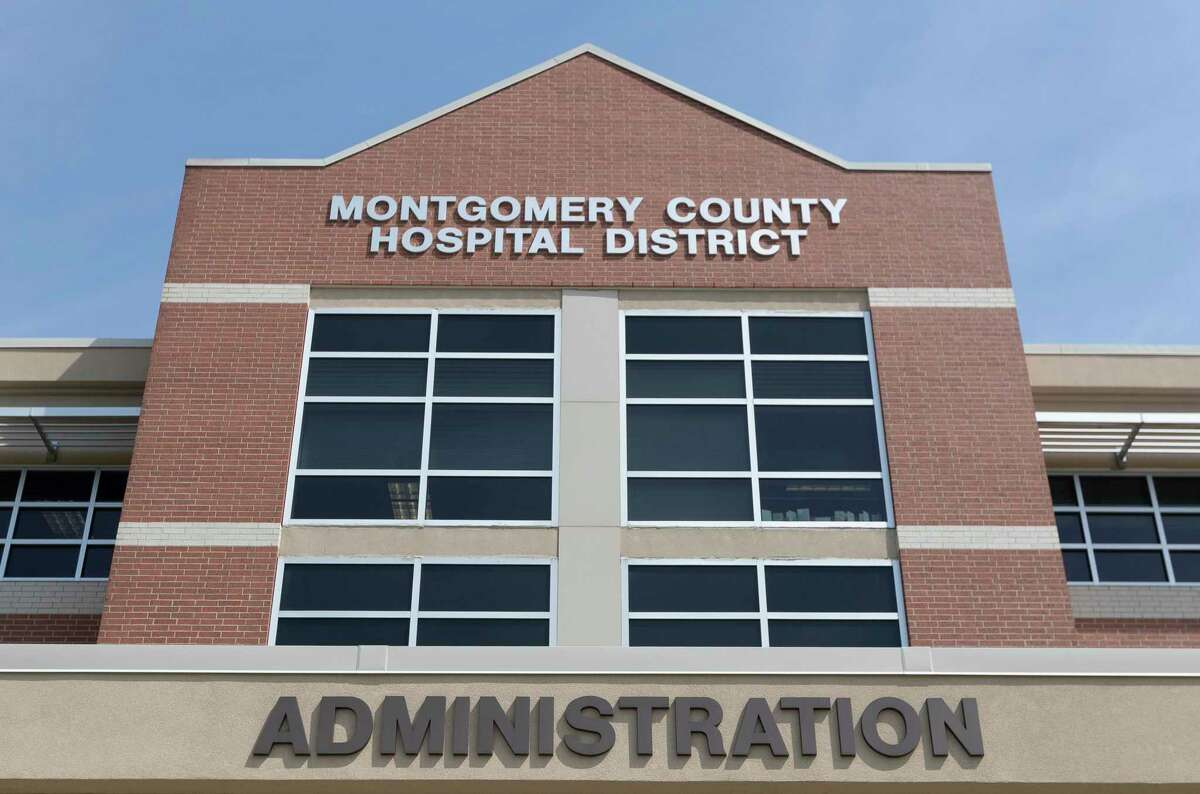 The Montgomery County Hospital District's administration building is seen, Friday, March 27, 2020, in Conroe.
