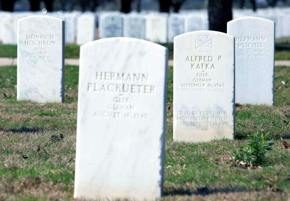 Grave markers for World War II prisoners of War are seen in 2012 at Fort Sam Houston National Cemetery. Some 141 POWs are interred at the cemetery.